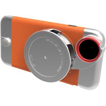 Ztylus Revolver Metal sada objektivů pro iPhone 6S/6, oranžový