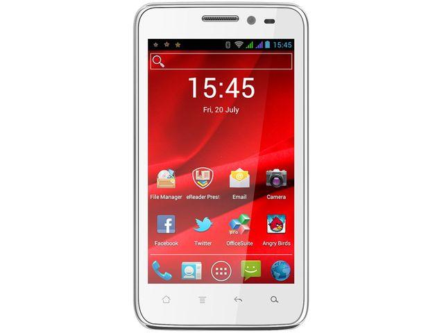 obsah balení Prestigio MultiPhone 4300 DUO (bílý) + Stylus SJ7 se sponou a vysouvací propisovací tužkou (bílý)