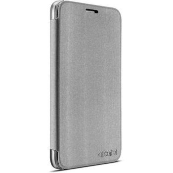 ALCATEL flipové pouzdro FC5051 pro POP 4, stříbrné