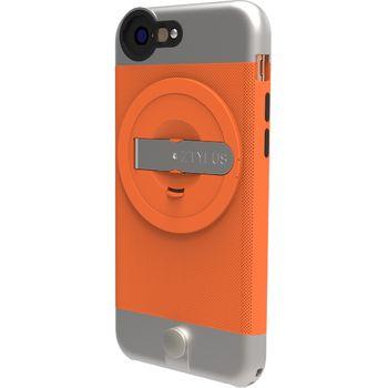 Ztylus Metal kryt se stojánkem pro iPhone 6S/6, oranžový
