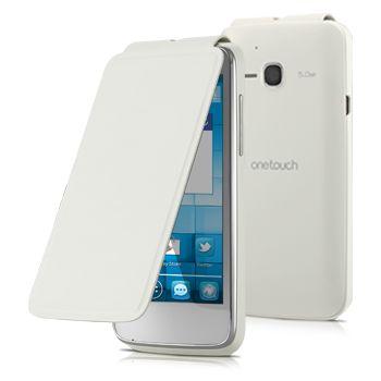 Alcatel flipové pouzdro pro One Touch M'POP, bílá