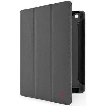 Belkin iPad 3 pouzdro Duo Trifold Folio, PU semiš, šedé (F8N784cwC01)