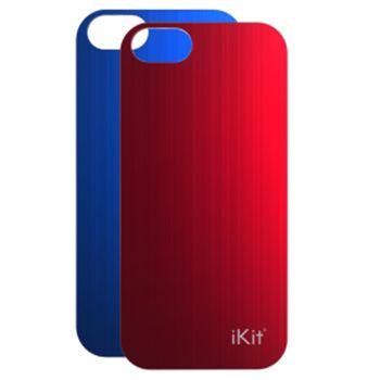 iKit Nucharge 2ks krytu k záložní baterii pro iPhone 5/5S, kožený červený a modrý