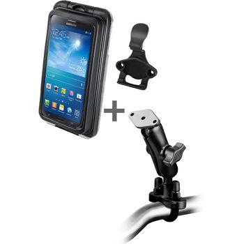 RAM Mounts vodotěsný držák na velké telefony na motorku nebo na kolo na řídítka, Ø objímky 12,7-31,75 mm, AQUABOX® Pro 20, sestava RAM-B-149Z-AQ7-2CU