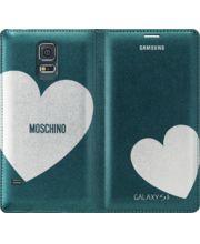 Samsung flipové pouzdro Moschino EF-WG900RG pro S5, Green + Silver