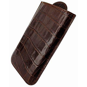 Piel Frama pouzdro pro BlackBerry Z10 Pull Style, Crocodile Brown