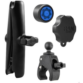 """RAM Mounts sestava pro držák s 1"""" čepem s dlouhým ramenem se zabezpečením se svěrkou s ručním upínáním na řídítka/tyč o Ø 15,9-38,1mm, RAM-B-400-X-KNOB3-CU"""