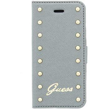 Guess flipové pouzdro Studded folio pro iPhone 6 Plus, stříbrná