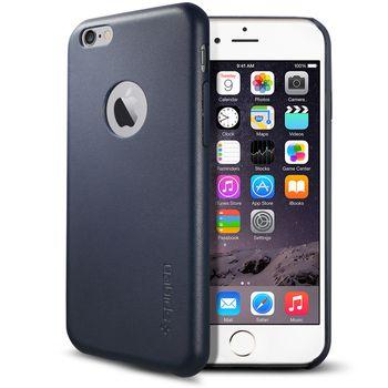 Spigen ochranný kryt Leather Fit pro iPhone 6, tmavě modrá