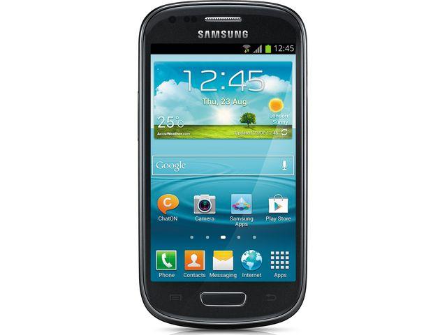 obsah balení Samsung Galaxy S III mini, NFC, černý + zadní kryt Samsung ZDARMA, světle modrý