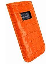 Piel Frama pouzdro pro iPhone 5 Pull Case, Crocodile Orange