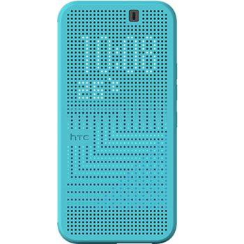 HTC flipové pouzdro Dot View Ice HC M232 pro HTC One M9, modré/transparentní