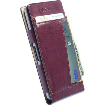 Krusell pouzdro WalletCase Kalmar - Sony Xperia Z1 Compact, hnědá