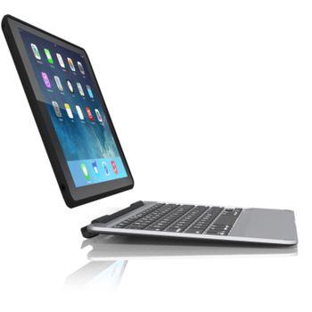 ZAGG Slim Book Case with Keyboard-Apple iPad Air-Black Case-Black Keyboard-UK