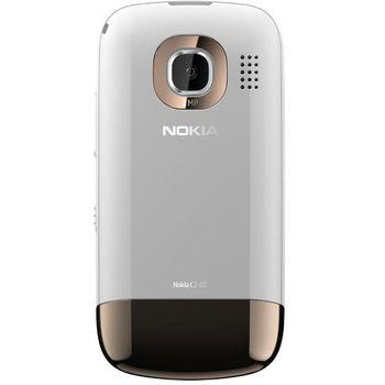 Nokia C2-02 Golden White + Nabíjecí sada na kolo Nokia