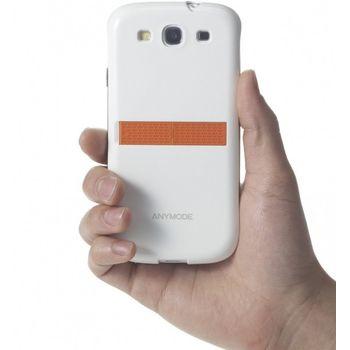 ANYMODE zadní kryt se stojánkem na stůl pro Samsung Galaxy S3, bílý