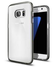 Spigen pouzdro Neo Hybrid Crystal pro Galaxy S7 edge, kovově šedé