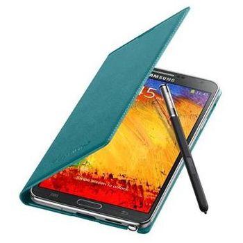 Samsung flipové pouzdro s kapsou EF-WN900BL pro Galaxy Note 3, modrozelená