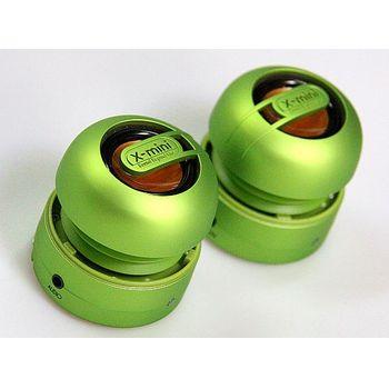 X-mini Max - přenosné stereo reproduktory zelené