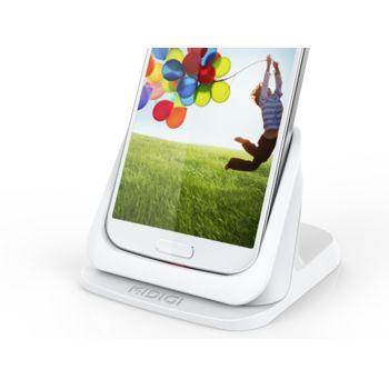 Kidigi UltraThin dobíjecí a synchronizační kolébka pro Samsung Galaxy S4, bílá