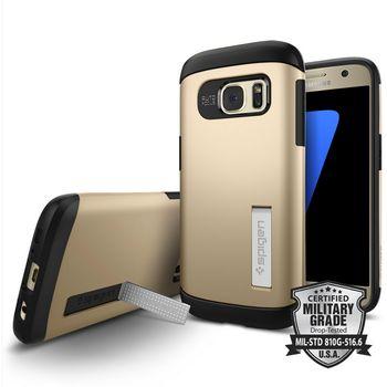 Spigen pouzdro Slim Armor pro Galaxy S7, zlaté