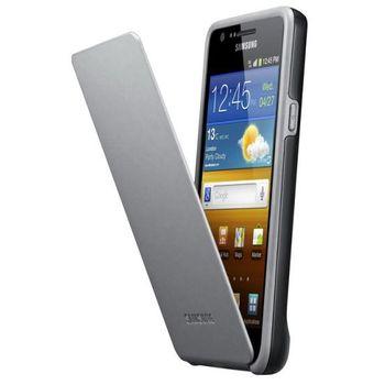 Samsung pouzdro flip EF-C1A2B pro Samsung Galaxy S II (i9100), černá/šedá