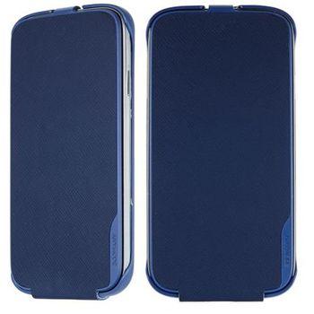 ANYMODE kožené pouzdro flap pro Samsung Galaxy S4, modré