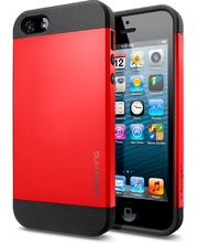 Spigen pevné pouzdro Slim Armor pro iPhone 5/5S, červené
