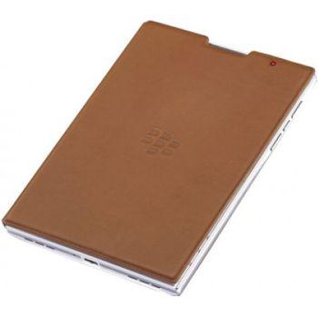BlackBerry flipové kožené pouzdro pro BlackBerry Passport, hnědé