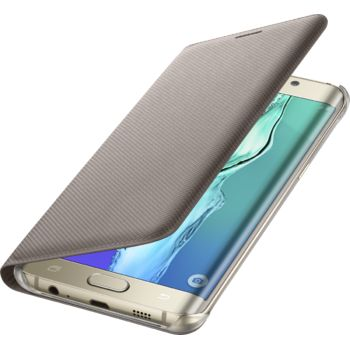 Samsung flipové pouzdro s kapsou EF-WG928PF pro Galaxy S6 edge+ (G928), zlaté