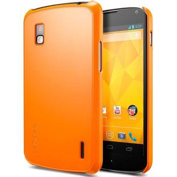 Spigen Google Nexus 4 Ultra Thin Air Case - ochranné pouzdro oranžové
