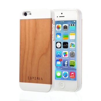 Esperia Evoque White Třešeň kryt pro iPhone 5/5S
