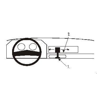 Brodit ProClip montážní konzole pro Toyota Corolla 85-87, na střed