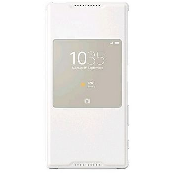 Sony flipové pouzdro Style Cover Window SCR42 pro Xperia Z5, bílé
