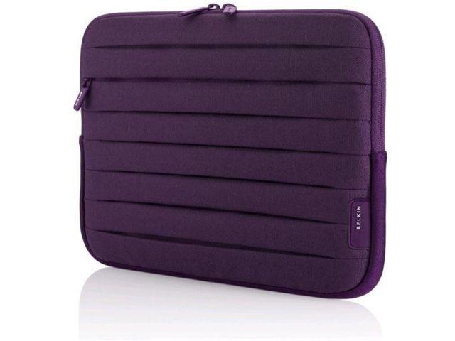 obsah balení Belkin iPad Sleeve Pleated, fialová