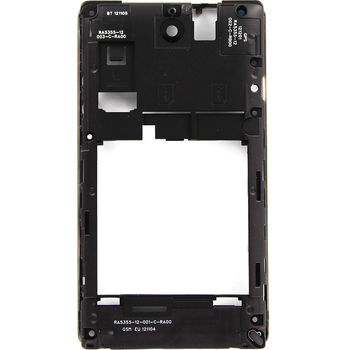 Náhradní díl střední díl těla D-SIM-I pro Sony C1605 Xperia E Dual, černá