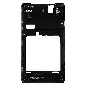 Náhradní díl střední díl těla D-SIM-A pro Sony C1605 Xperia E Dual, černá