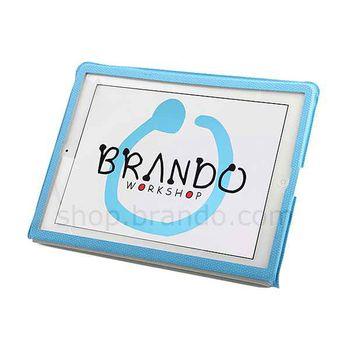 Pouzdro gumové Brando s víceúčelovým stojánkem - Apple Nový iPad (bílé)
