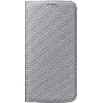 Samsung flipové pouzdro s kapsou EF-WG920BS pro Galaxy S6, textilní, stříbrná