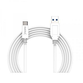 Incipio kabel USB-A na USB-C, délka 100cm, bílý