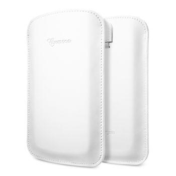 Spigen kožené pouzdro Crumena pro Galaxy S4, bílá