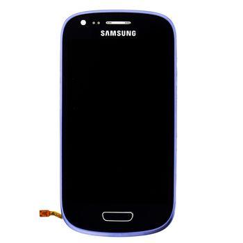 Náhradní díl LCD displej s dotyk vrstvou + přední kryt pro Samsung i8200 Galaxy S III Mini VE, modrá