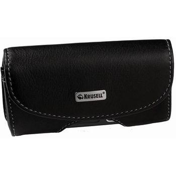 Krusell pouzdro Horizon - S - SE Xperia/Samsung Omnia/Nokia E5,C6 (černá/béžová)