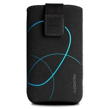 Fixed pouzdro Velvet s motivem Stripe Blue, velikost 5XL, černá
