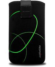 Fixed pouzdro Velvet s motivem Stripe Green, velikost 5XL, černá