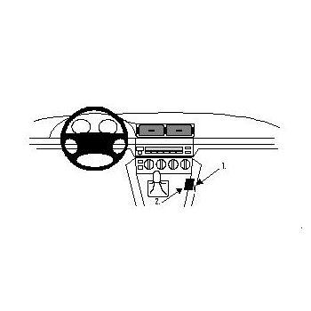 Brodit ProClip montážní konzole pro BMW 520-540, M5 E39 96-03, na středový tunel