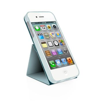 Macally Flip pouzdro se stojánkem pro iPhone 5 - modré