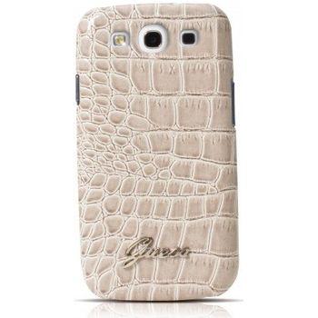Guess Crocodile zadní kryt pro Sam. Galaxy S III, béžový