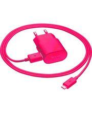Nokia úsporná cestovní síťová nabíječka AC-50E - microUSB, růžová