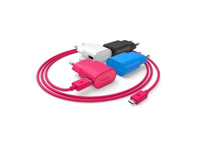 obsah balení Nokia úsporná cestovní síťová nabíječka AC-50E - microUSB, bílá